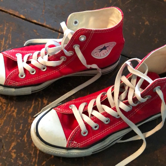 Converse Shoes   Red All Star High Tops